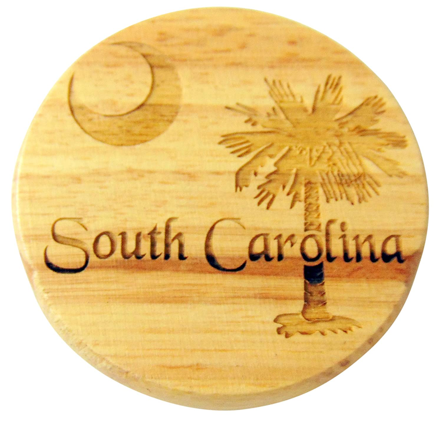 South Carolina Flag Wooden Bottle Opener and Fridge Magnet Made in the USA 2 1//2 Inch