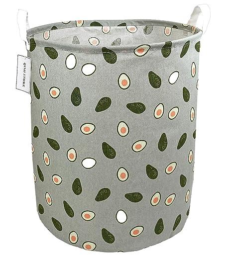 Football QIMI Large Storage Bins,Waterproof Laundry Hamper with Handles Canvas Organizer Bin for Kids Hamper Nursery Hamper