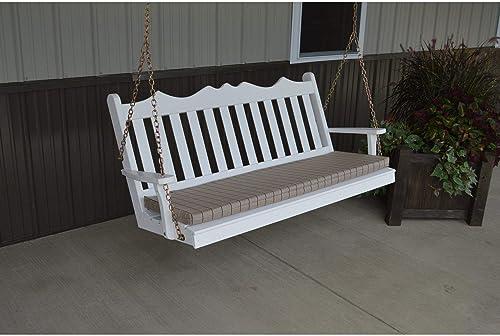 A L Furniture Royal English Yellow Pine 4ft. Porch Swing