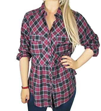 3a32e348f Ladies Red Check Shirt Top- long sleeved Women's size 10: Amazon.co ...