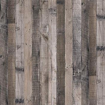 Gray Wood Wallpaper Wood Peel And Stick Wallpaper 17 7 X 118 1 Faux Wood Plank Paper Wood Self Adhesive Removable Wall Decorative Reclaimed Wood Look Wallpaper Vinyl Film Shiplap Wood Panel Wallpaper Amazon Com