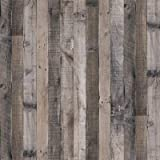 """Gray Wood Wallpaper Wood Peel and Stick Wallpaper 17.7""""x 118.1""""Faux Wood Plank Paper Wood Self Adhesive Removable Wall Decora"""