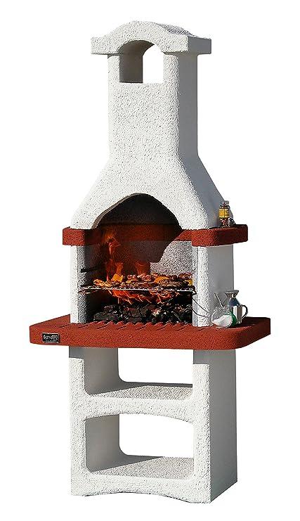 1pz barbacoa de mampostería Mod.Alicante de hormigón, con campana cm 86 x 56
