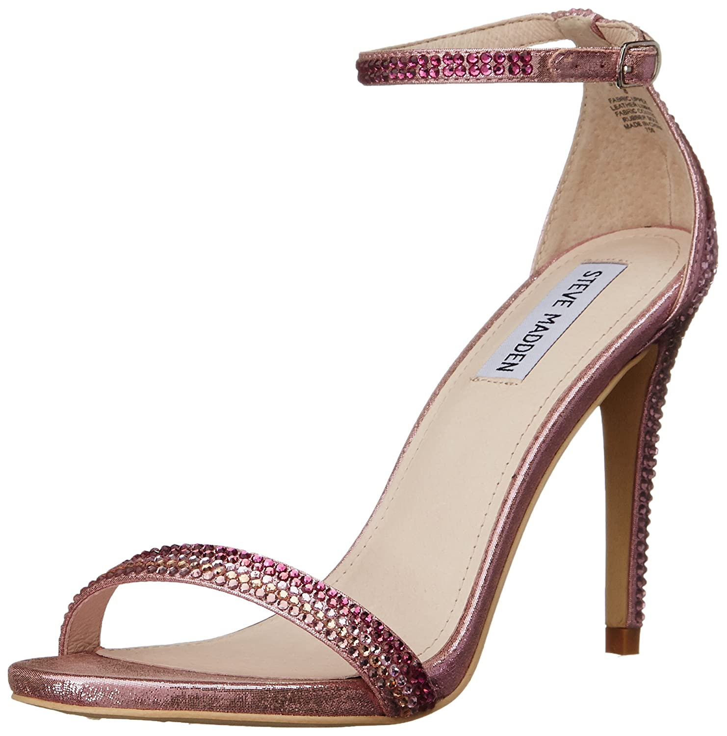 Amazon.com | Steve Madden Women's Stecy R Dress Sandal, Pink/Multi, 9 M US  | Heeled Sandals