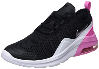 5524e19d22 Nike Girl's Air Max Motion 2 Shoe Black/Metallic Silver/Psychic Pink/White