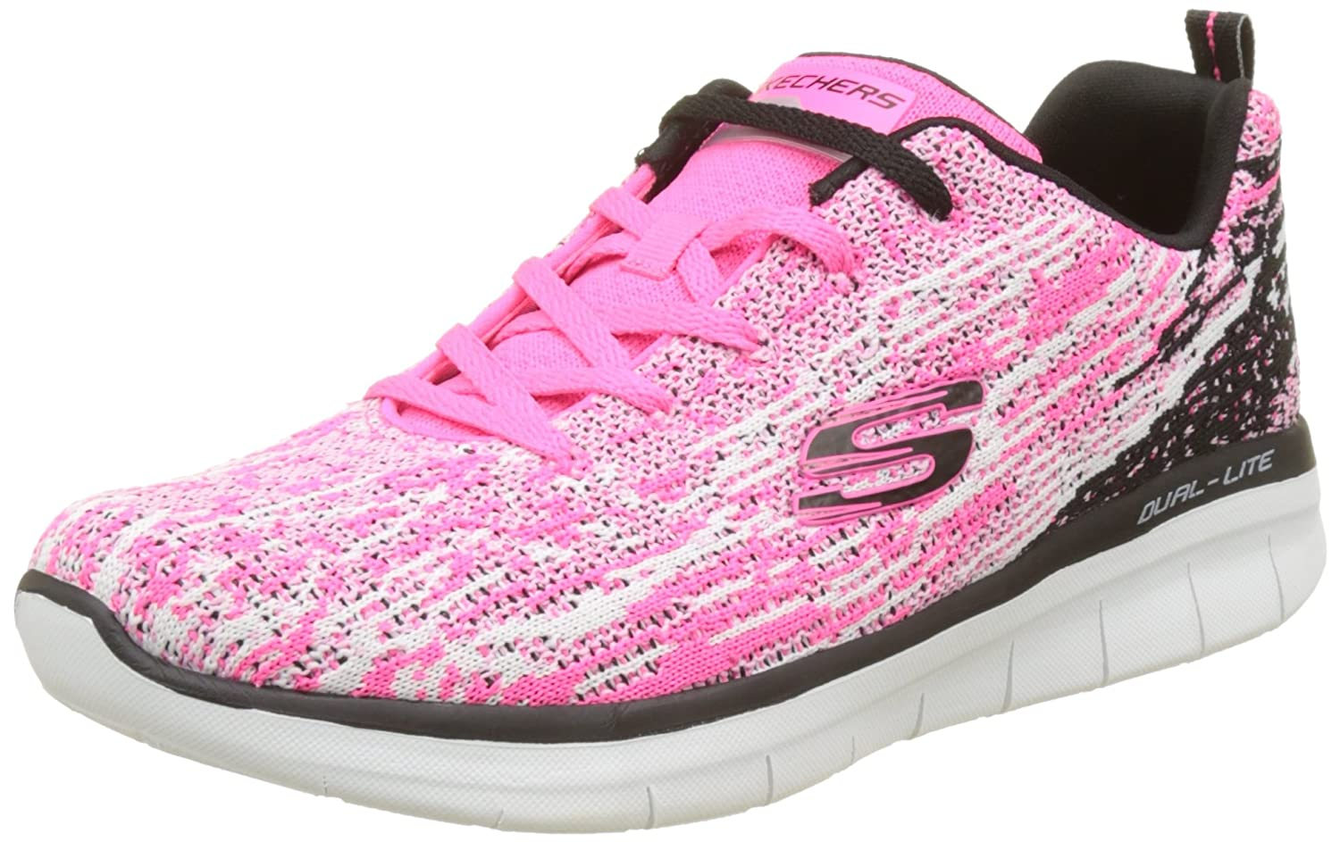 Skechers Sport Synergy 2.0 High Spirits Women's Sneaker B01MSAIXYR 8 B(M) US|Pink-black