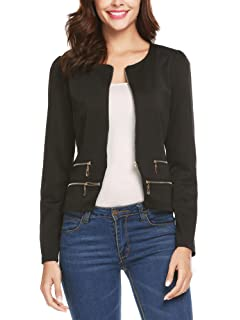 RolyPoly Womens Casual Work Office Open Front Blazer Jacket ...