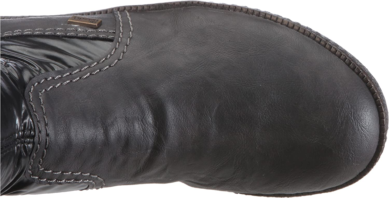 Rieker Fenja Z5470 46, Damen Stiefel, Grau (smokegraphit
