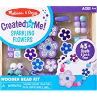 Melissa & Doug Sparkling Flowers Wooden Bead Set