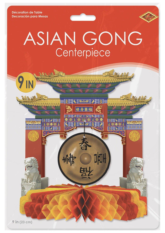 Beistle Asian Gong Tafelaufsatz 1 Teil 1 mehrfarbig
