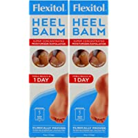 Flexitol Heel Balm 4 Oz Tube, Rich Moisturizing & Exfoliating Foot Cream for Fast Relief (Pack of 2)