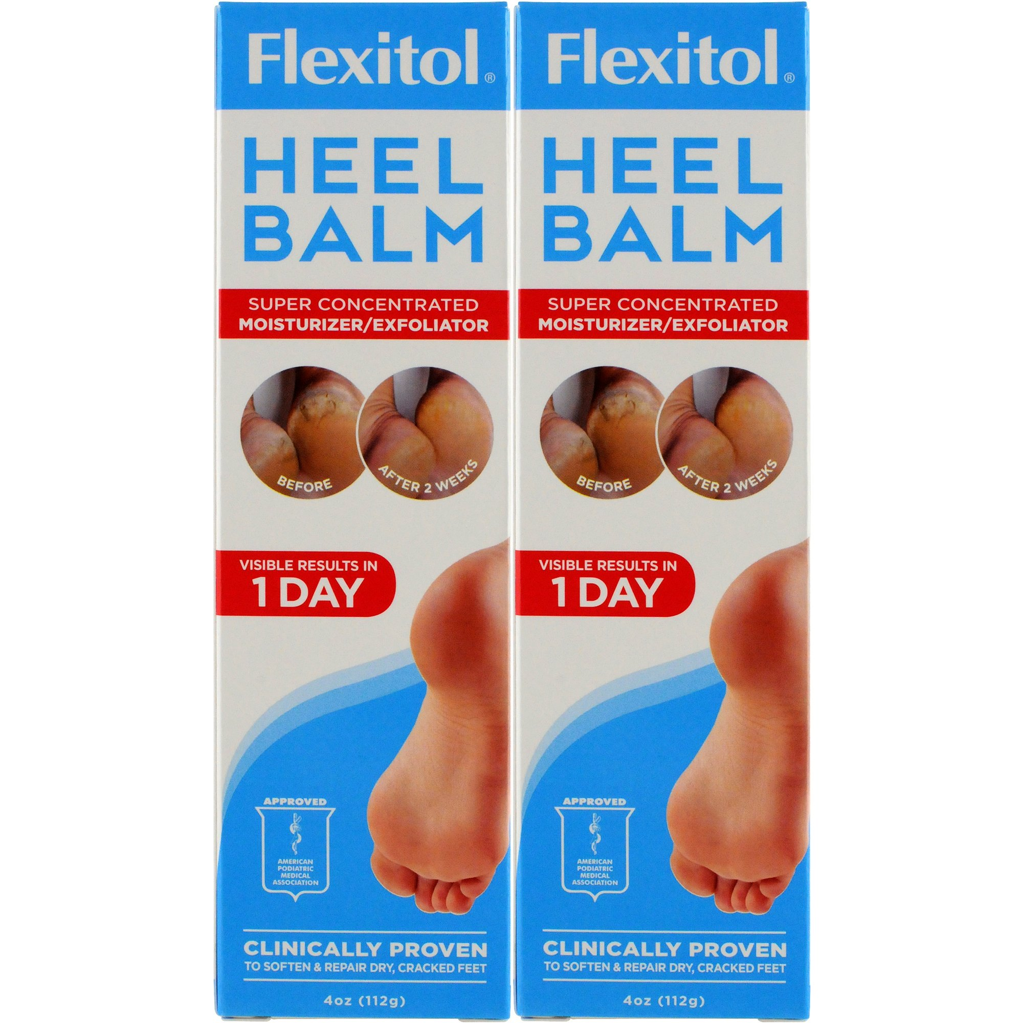 Flexitol Heel Balm Tub Rich Moisturizing & Exfoliating Foot Cream