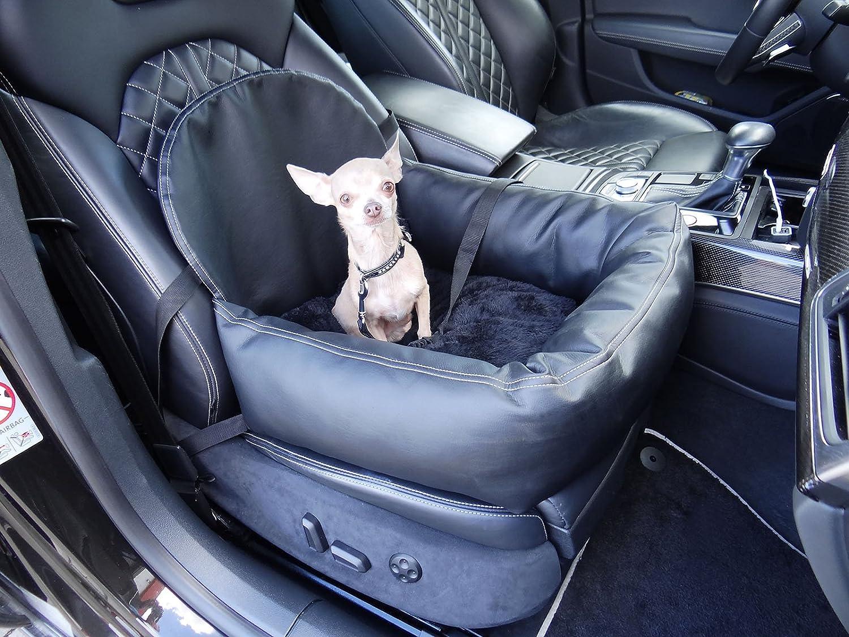 knuffliger in pelle, look auto sedile per cane, gatto O Animale domestico con Flex Tracolla consigliato per Kia Sportage Hossi' s Wholesale Carseat-Leder-Flexgurt-0324
