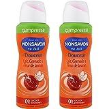 MonSavon Déodorant Femme Spray Anti Transpirant Lait & Grenade Tonique 100ml - Lot de 2