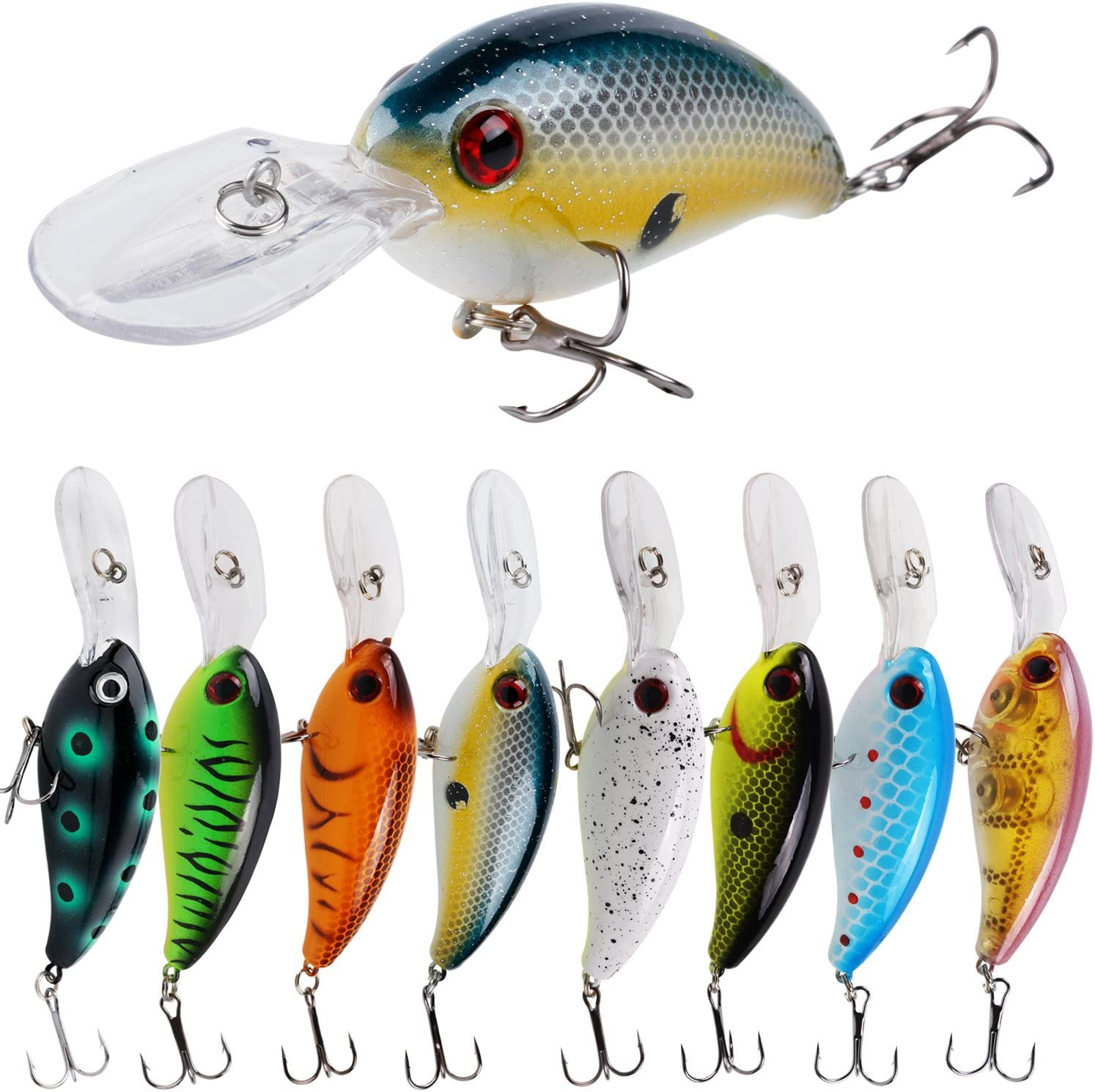 Amazon.com : YONGZHI Fishing Lures Shallow Deep Diving Swimbait