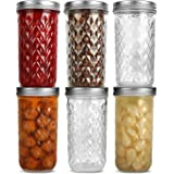 Wide Mouth Mason Jars 22 oz, VERONES 22 OZ Mason Jars Canning Jars Jelly Jars With Wide Mouth Lids, Ideal for Jam, Honey, Wed