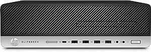 HP EliteDesk 800 G4 Desktop Computer - Intel Core i5 (8th Gen) i5-8500 3 GHz - 16 GB DDR4 SDRAM - 256 GB SSD - Windows 10 Pro 64-bit - Small Form Factor - DVD-Writer DVD177;R/177;RW - Inte