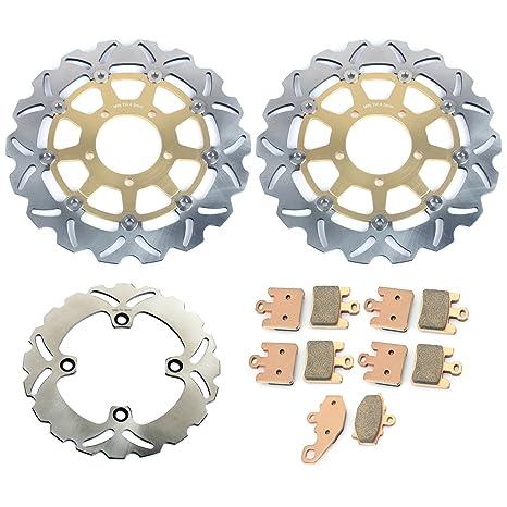 Amazon.com: TARAZON Gold Set Front Rear Brake Rotors & Pads ...