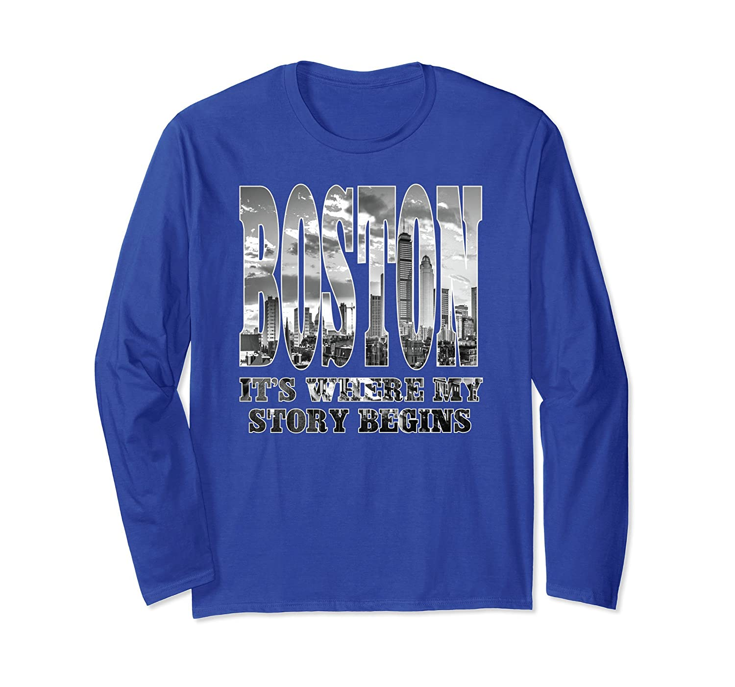 Boston Shirts for Men Women with Skyline-alottee gift
