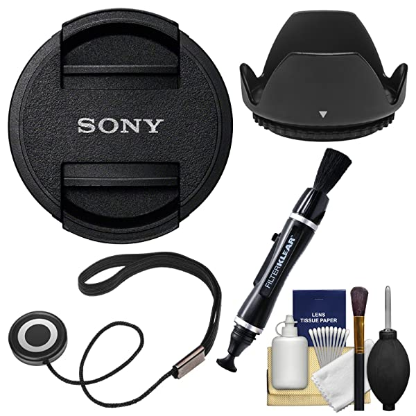 Sony ALC-F62S 62mm Lens Cap with Hood + Cap Keeper + Cleaning Kit
