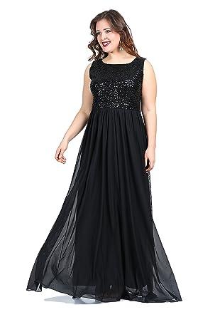 Paillettenkleid Damen Designer Abendkleid MAXI Hochzeit Ball ...