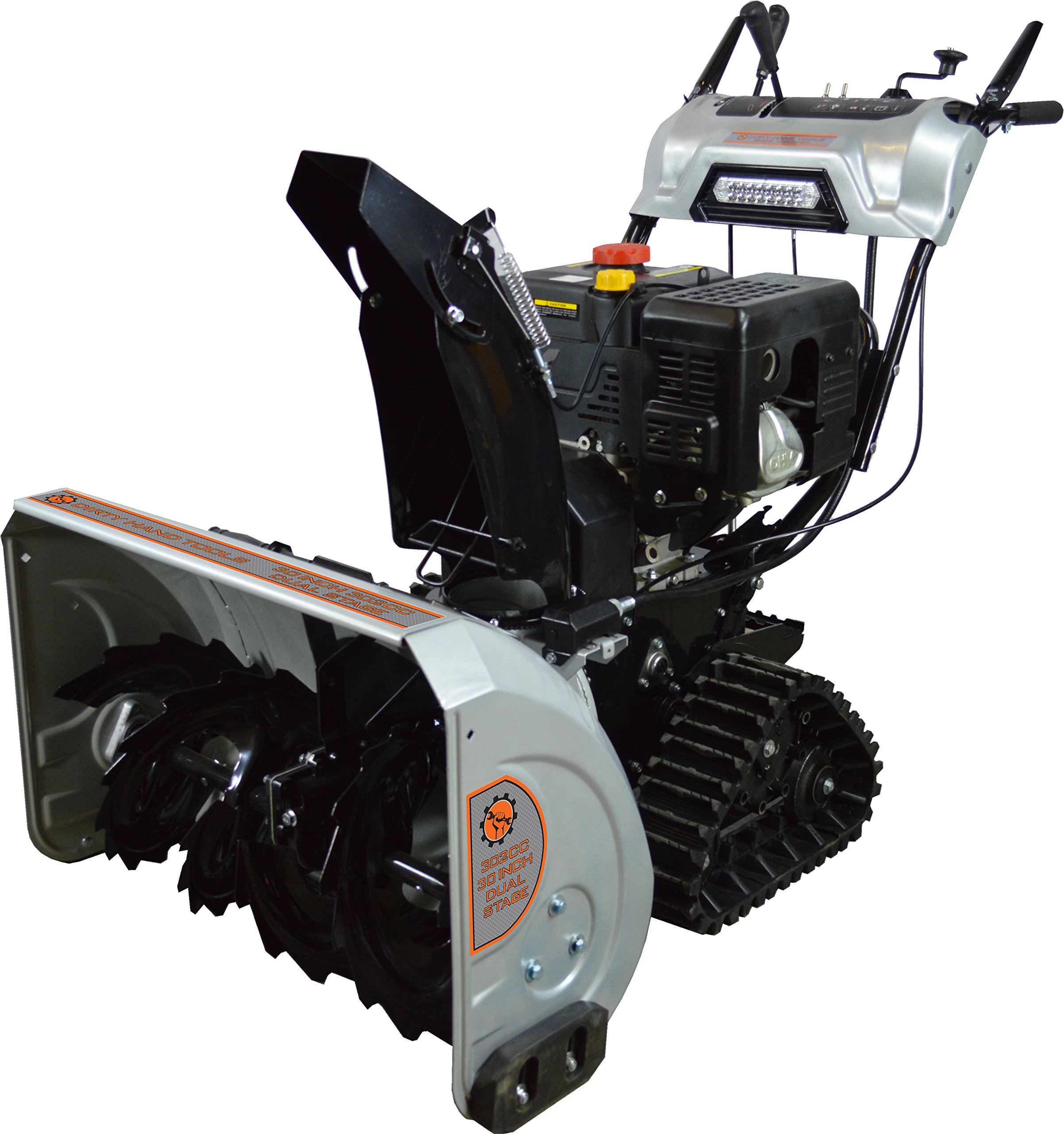 Dirty Hand Tools 103880 Dual Stage Snow Thrower with Tracks, 30''