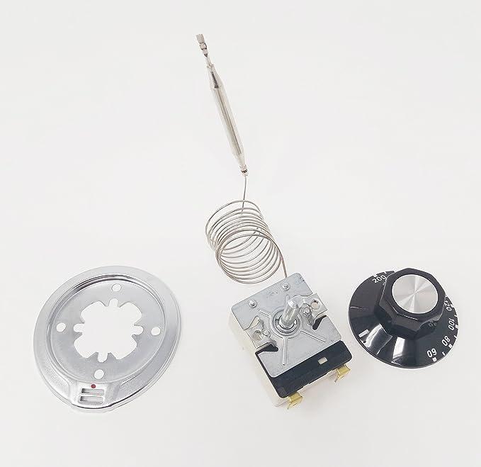 SERVI-HOGAR TARRACO® Termostato Freidora 50-200° cap. inox 1000mm. 20A Mando+Dial.: Amazon.es: Hogar