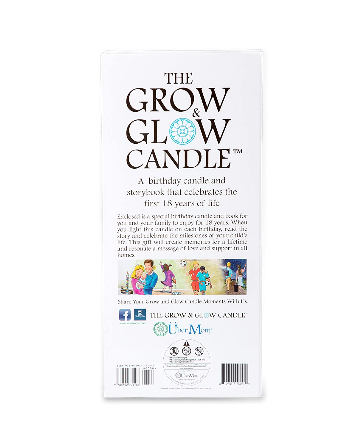 Amazon Grow Glow Birthday Candle 1 18 Years With Keepsake