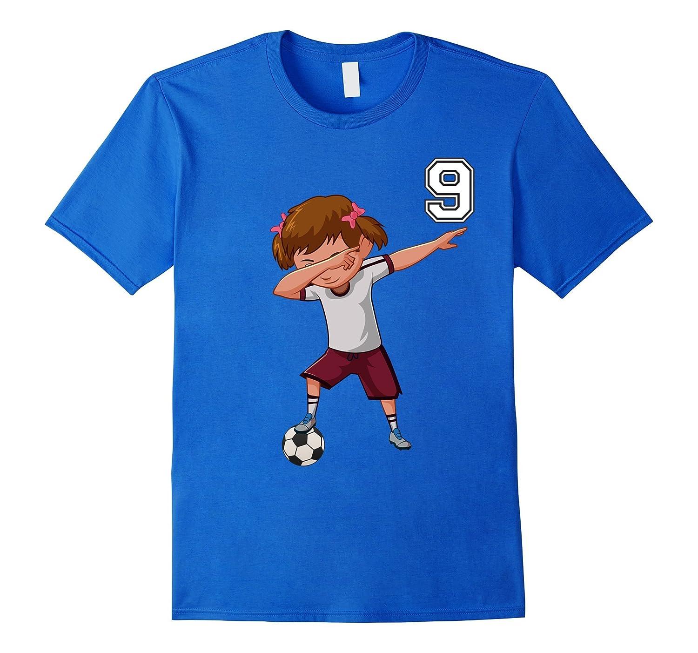 #9 Soccer Shirt Girls Funny Dabbing Dab Dance Soccer Ball-FL