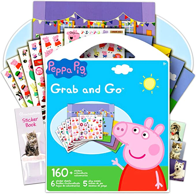 Peppa Pig Stickers Over 350 Quality Peppa and Friends Stickers Bundle Includes Separately Licensed GWW Bookmarks /& Reward Stickers