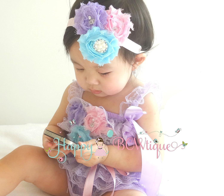 2eae2fda784 Amazon.com  Baby Girl Petti Lace Pretty Lavender Romper set ...