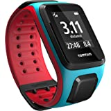 TomTom Runner 2 - Montre GPS - Bracelet Large Turquoise / Rouge Large (ref 1RE0.001.00)