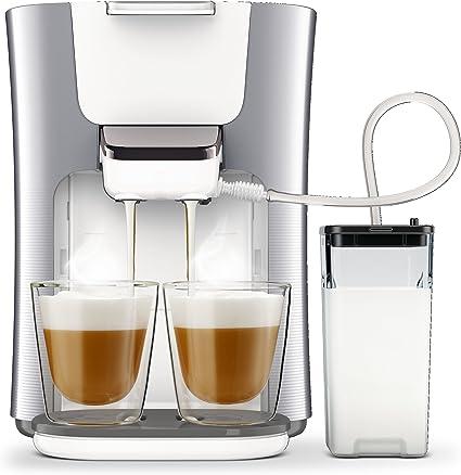 Philips Senseo HD657420 Latte Duo Kaffeepadmaschine (2 Kaffee, frische Milch) silber