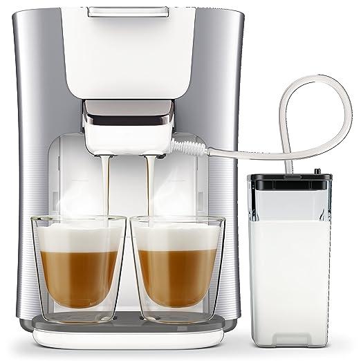 Senseo HD6574/20 - Cafetera (Independiente, Máquina de café en cápsulas, 1 L, Dosis de café, 2650 W, Perlado, Plata)