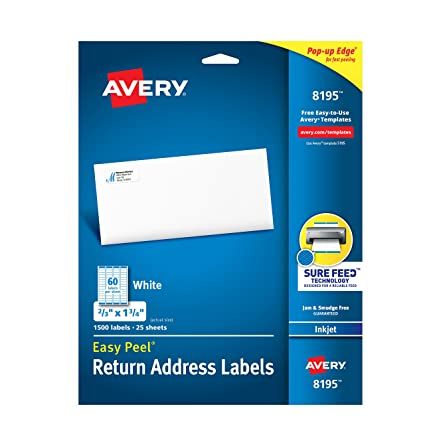 Amazon Avery Return Address Labels Inkjet Printers 1 500