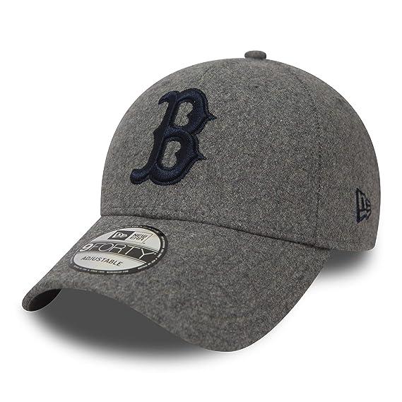 New Era Casquette 9FORTY Winter Utility Melton Boston Red Sox Gris Ajustable   Amazon.fr  Vêtements et accessoires 39c12a55b02a