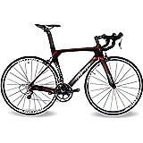 BEIOU ® 2016 700C ロードシマノ105 自転車 580011Sレーシング 自転車 T800-M40カーボンファイバーエアロフレーム 超軽量 18.3lbs CB013A-2 [並行輸入品]