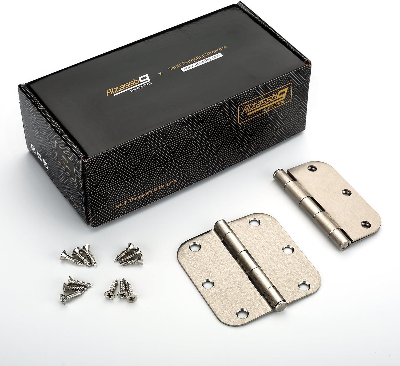 Alzassbg AL9201ORB Oil Rubbed Bronze 3.5 Inch x 3.5 Inch with 5//8 Inch Radius Corner Cabinet Hardware Door Hinges 18 Pack