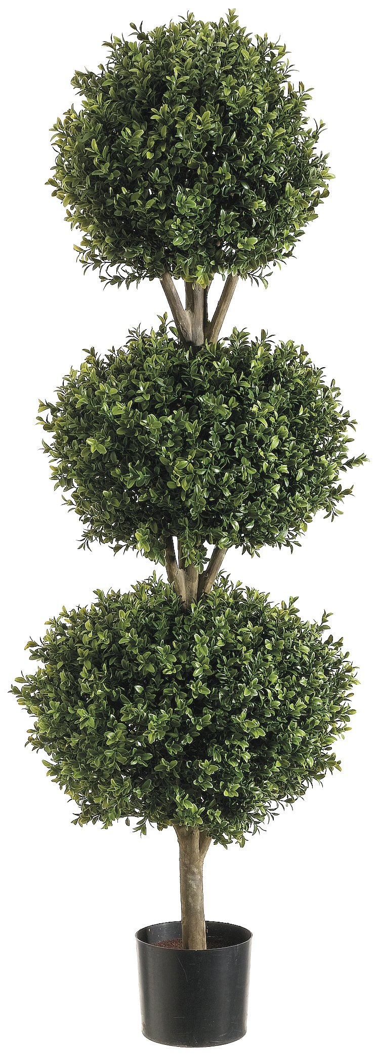 Silk Decor 4-Feet Tri Ball Boxwood Topiary Plant, Green/Two-tone by Silk Decor