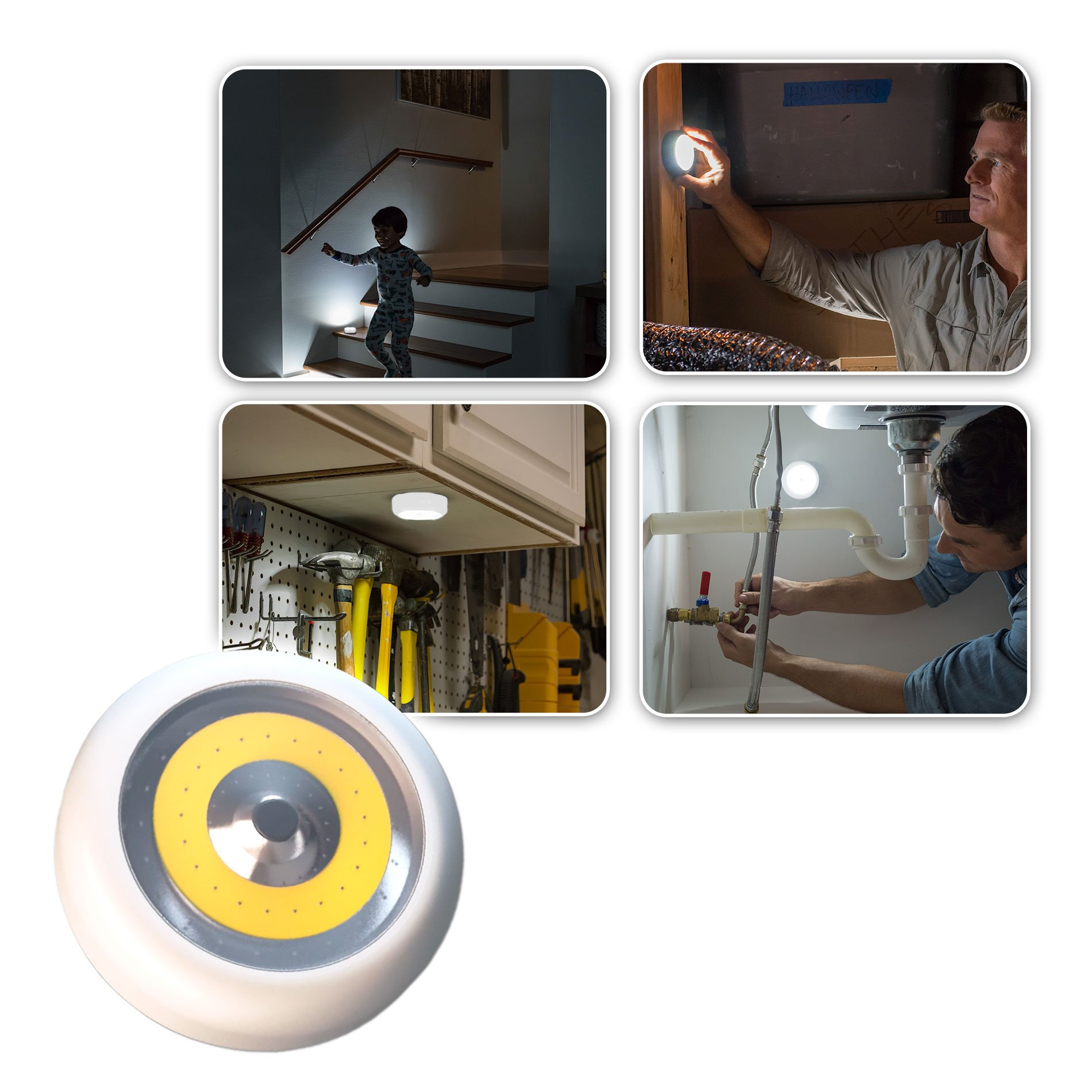 Atomic Beam TapLight Tap LED Light by BulbHead The Astonishingly Bright Stick Anywhere Light (1 Pack)