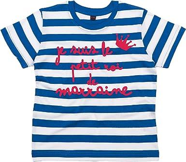 Je suis Le Petit Roi DE Marraine  Tee Shirt Marine