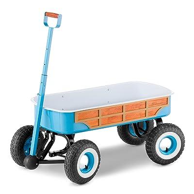 Schwinn 4x4 Quad Steer Woody Wagon Vehicle, Teal: Toys & Games