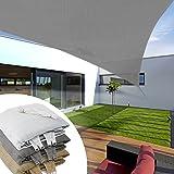 Voile d'ombrage casa pura® Tristar en 3 coloris | triangulaire - matériau HDPE résistant aux rayons UV | taille 3x3x3m, gris