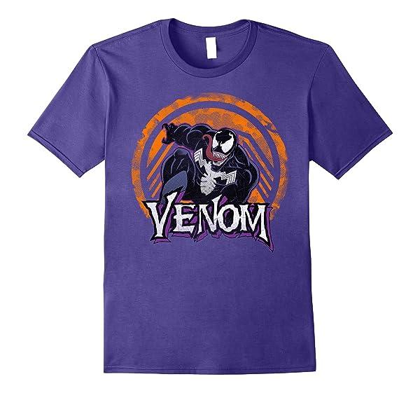 Awesome Dtacheck Out This Awesome Dta Marvel Venom Leap Logo Orange Tonal Logo Drop T-shirt