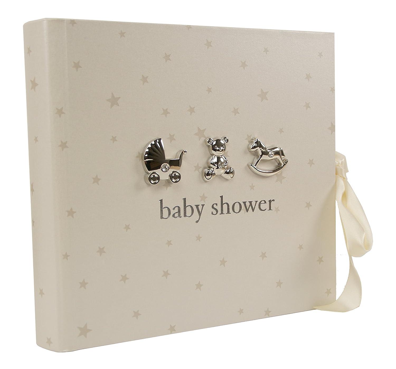 Fotoalbum Baby-Shower Geschenk mit 3D-Applikationen, für 80 Fotos, 15.24 cm x 10.16 cm für 80 Fotos ukgiftstoreonline