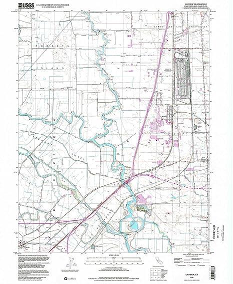 Amazon Com Yellowmaps Lathrop Ca Topo Map 1 24000 Scale 7 5 X