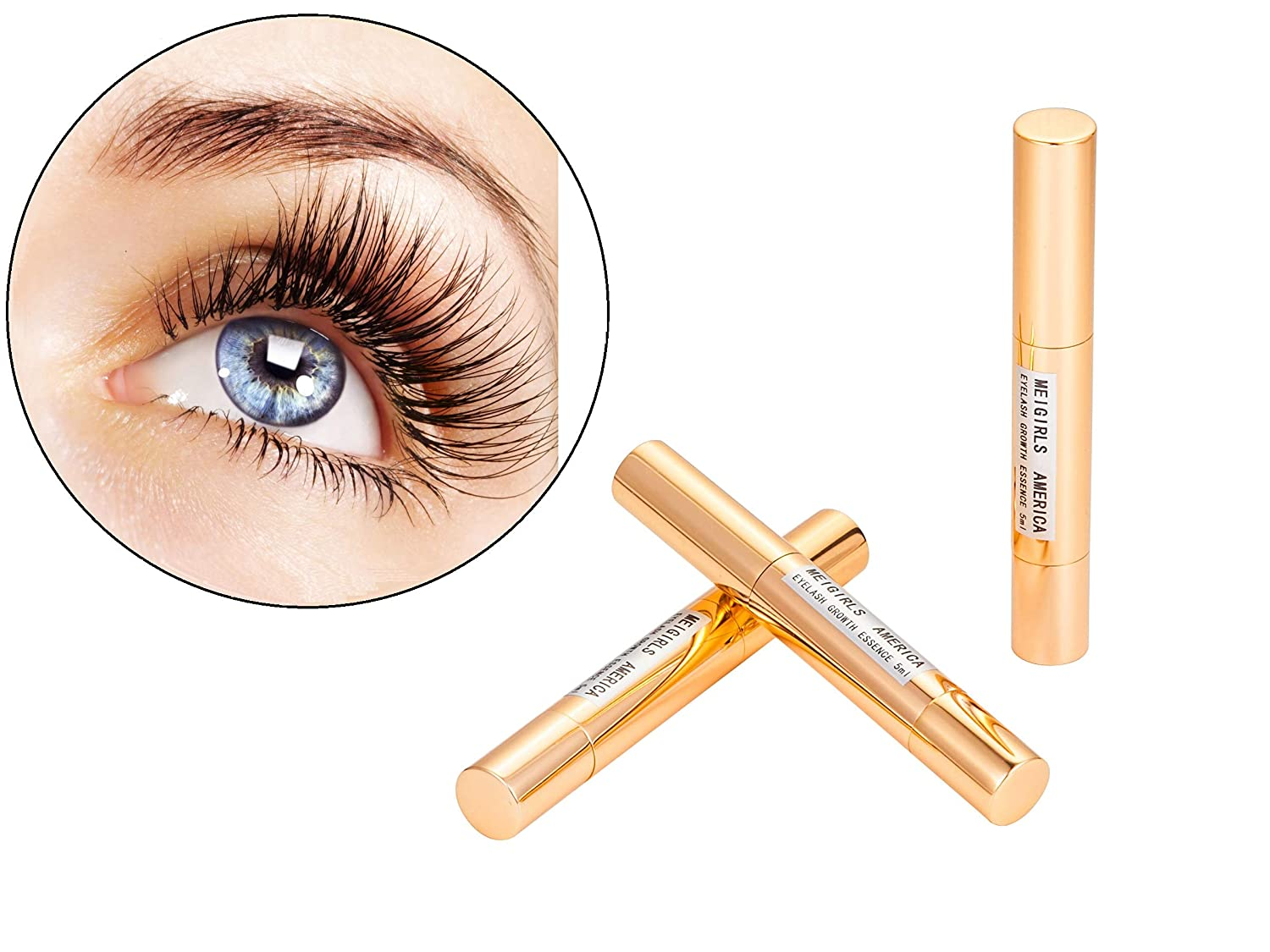 4ef242c7efd Amazon.com: Eyelash Growth Serum and Eyebrow Enhancer All Natural Enhancing  Essence for Lash Brow Fast Stimulate Treatment Boost Extension Supplies:  Beauty
