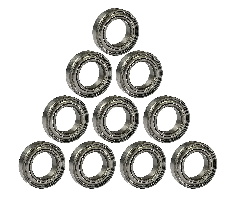 2 pcs MR128zz Mini Metal Double Shielded  Ball Bearings 8mm*12mm*3.5mm