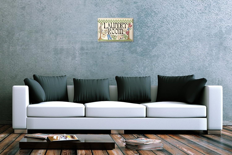 R/étro Plaque /Émaill/ée salle deau Corde /à linge 20X30 cm
