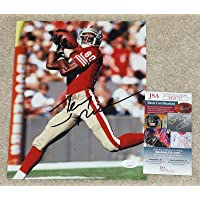$98 » Jerry Rice Signed Picture - #80 8x10 + COA EE91727 - JSA Certified - Autographed NFL Photos